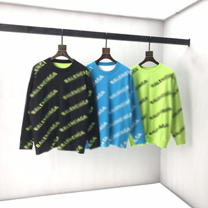 New AOP jacquard letter knitted sweater in autumn   winter 2020 Custom jacquard knitting machine enlarged detail crew neck cotton 0q