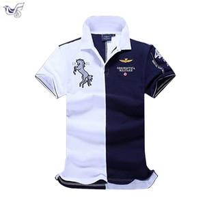 Xiyouniao été nouvelle boutique broderie respirant 100% coton revers hommes Air Force One Polo Shirt taille M-xxl C19041501