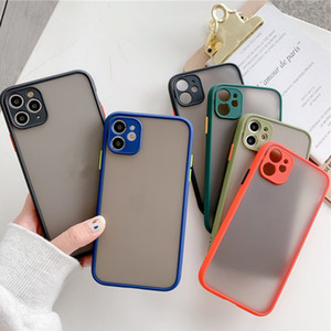 Anti-caduta Frosted Custodie Cellulari traslucido per Apple iPhone 11 XR Cell Phone Accessories 5 colori