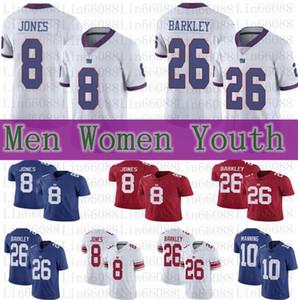 جديد رجل إمرأة نيويوركالشباب العملاق26 Saquon باركلي 8 دانيال جونز 10 ايلي مانينغ لكرة القدم الفانيلة