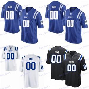 NCAA Duke Blue Devils Колледж Джерси Футбол Дэниел Джонс Bryon Поле Остин Дэвис Ramsay Эван Лиль Laken Томлинсон Черный Белый заказ