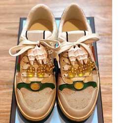 2019Newest FLOWERS TECHNIQUE HIGH TOILE Baskets montantes Femmes célèbres Chaussures Designer avec PVC Matériaux meilleure qualité Lace Up Sneakers BG01