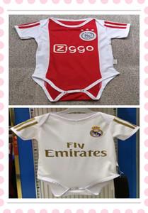 Das neueste Babytrikot Real Madrid Ajax Baby Fußball Trikots 2019 2020 Club 6-18 Monate Kurzarm Baby Fußball Trikot