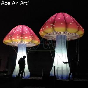 decoração ao ar livre cogumelo gigante inflável com LED colorido, cogumelo para venda quente