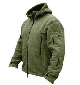 Inverno Militar tático Velo Jacket Men quentes Polartec roupa do exército dos EUA vários bolsos Casacos Casual Jackets casaco com capuz