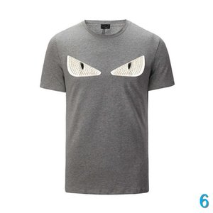 Neue Art und Weise F Letters Tide Herrenkleidung Sommermens DesignerT Hemden Freizeit Street T-Shirt Rivet Baumwollmischung Short Sleeve 6