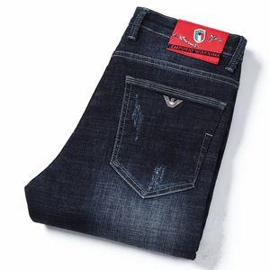 9980 Giorgio AJ- Autumnwinter Açık Pantolon Kalın Stretch kot pamuk pantolon pantolon düz iş olağan biçimde yıkanmış Erkek pantolonu pant