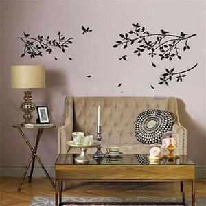 شجرة فرع الطيور خطابات صائق الجدار ملصق جدارية الفن ديكور المنزل PVC القابل للإزالة