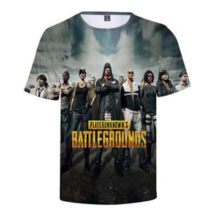 PUBG 3D Baskılı t gömlek Boş Sokak Boys / Kızlar Favori oyunu PUBG Tişörtler Yaz çocuk Tees Yüksek Kalite Kısa kollu Tops