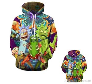 Rick and Morty impression 3D décontractée lâche Sweat à capuche Evil Morty Pullover Pull Manteau Pulls pour hommes / femmes Sweat-shirts