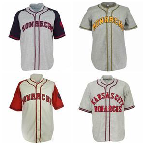 Custom Kansas City Monarchs 1942 Home Road Джерси Все сшитые мужские женские молодежные ретро-бейсбольные майки