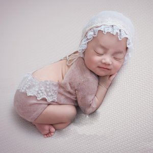 THINKTHENDO Hot Sell Newborn Photo Prop Set Baby Boy Girls Photography Outfit Knitted Romper Blanket
