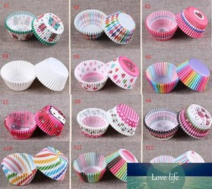 Muffins Paper Cupcake Wrappers Baking Cups Cases Muffin Boxes Cake Cup Decorating Tools Kitchen Cake Tools