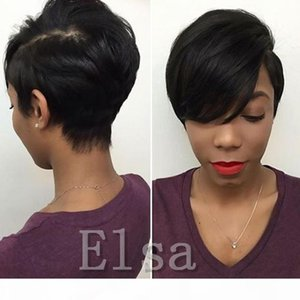 Hot Sale Spring Sale Full Lace Huamn Hair wigs Virgin Brazilian Hair Wigs Short Pixie Human Hair Pixie wigs for Black Women
