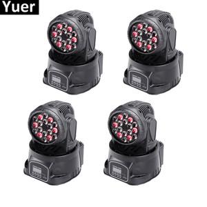 8 adetgrup Yeni LED Arı Göz Hareketli Kafa Işık 18x3 W RGB Profesyonel Sahne Işıkları DMX512 Disko DJ Işın Yıkama Etkisi Aydınlatma Ekipmanları