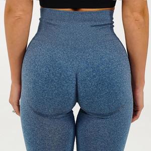 Hip Leggings mulheres sexy Hot Seamless malha exagera Hips absorção de umidade Yoga Pants Sports Academia Calças