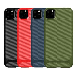 iPhone Per la cassa in fibra di carbonio 11 Pro Max XR XS 8 Samsung S20 Nota 10 A21 A01 HUAWEI LG K50 Moto G8 plus