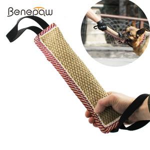 Benepaw Durable mordida Tug Dog brinquedos interativos 2 Handle Strong Pull Médio Grande Rope Pet Toys Training German Shepherd Y200330