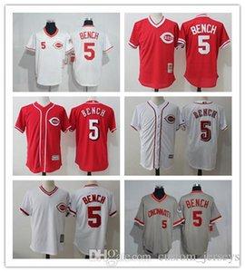 Männer Frauen Jugendliche Cincinnati Reds benutzerdefinierte Jersey # 5 Johnny Bench Heim Blau Rot-Baseball-Shirts