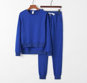 Two-piece Suit Irregular Split Pullover Sweater Suit Women's Long Sleeve O Neck Sweatshirt+Long Pants Two Pieces Women Sets Sport Tracksuit
