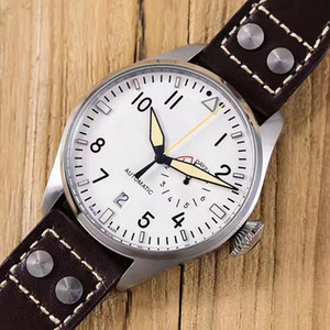 Reloj de pulsera IW500901 de lujo de alta calidad 2019 Big Pilot Midnight Blue / Black Dial Automatic 46MM Hombres Reloj para hombre Relojes