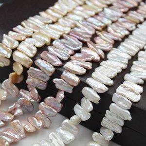 Природные Кеша REBORN Бива Pearl Beads 100% натуральный жемчуг пресноводных Сыпучие Strand с зубочисткой Формой барокко Перл сыпучих Strand DIY