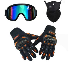 Wholesale three-piece off-road helmet goggles ski masks motorcycle riding hard shell gloves