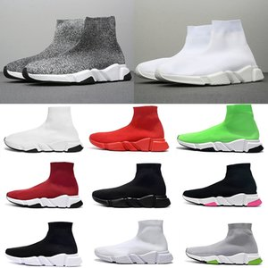 Moda Luxo Designer Women Shoes Mens Sock Speed Trainer Sneakers Knitting Deslizamento-na alta qualidade Casual Sports Shoe Comfort Chaussures