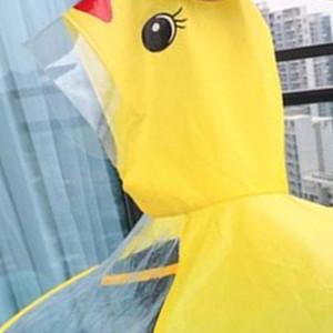 Creative Cartoon Duck Rain Hat Foldable Children Raincoat Umbrella Cape Cute Rain Coat Cloak Universal for Boys Girls