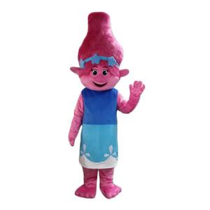 NOUVEAU Poppy Du rêve fonctionne Costume TROLLS Film Halloween mascotte Déguisements taille adulte Livraison gratuite