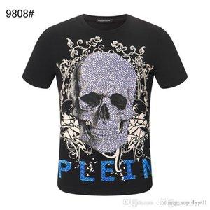 20SS mujeres del diseñador del Mens T Shirts vaqueros de lujo de verano de la camiseta Homme fuera negro blanco cráneo Superme Tee Tops chándales de bolsa 04