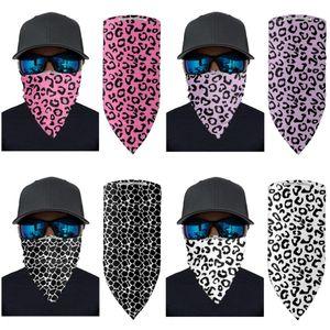 Filtro Mágico Máscara Máscara al aire libre a prueba de viento la cara del leopardo bufanda turbante cuello de Protección Solar Ciclismo Pañuelos de protección sin filtro LJJO7915