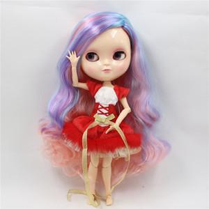 Cabelo roxo azul do brinquedo azul do brinquedo de pele natural do corpo de Azone da boneca de DBs de DBs 30cm com maquiagem bl1010 / 7216/6227