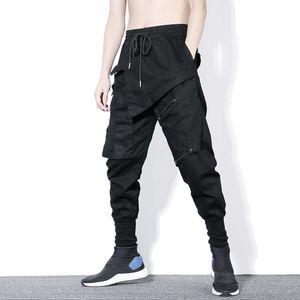 Pantalon cargo hommes poches couleur unie Joggers Homme Casual Male mode Sweatpants Pantalon de hip-hop Plus Size 3XL Streetwear