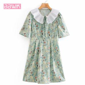 Summer New Fresh Fruit Printed Doll Collar Pullover Short Sleeve Chic Women's Dress Retro Leisure Vacation Female Dresses