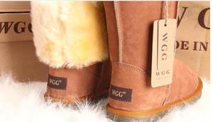 Fornitura acquisto di goccia Nuovi stivali delle donne ragazze classici inverno neve scarpe calde di alta qualità stivali di pelliccia della pelle Formati originale EUR36-41
