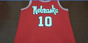 Пользовательские мужчины молодежь женщины Небраска Cornhuskers #10 Tyronn Lue THORBJARNARSON баскетбол Джерси размер S-5XL или пользовательские любое имя или номер Джерси