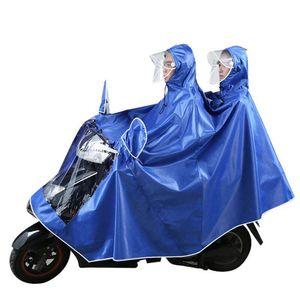 Açık Bisiklet Motosiklet Rider Yağmurluk Çift Kişi Panço Kalınlaştırıcı Moda Panço 5XL Rainwear