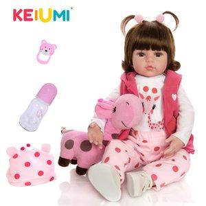 KEIUMI Детские Reborn Real Menina Мягкая силиконовая Reborn Детские куклы День рождения Подарки Мода Фаршированные куклы игрушки с Жираф Playmate