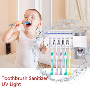 Antibacterias luz UV ultravioleta Cepillo de dientes Esterilizador pasta de dientes automático dispensador oral Cleaner Higiene Tooth Holder Brush