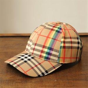 Rayas coloridas Gorras de mujer Diseño de personalidad de vacaciones Visores de marca femenina Moda Ajustable Unisex Encanto Sombreros de protección solar