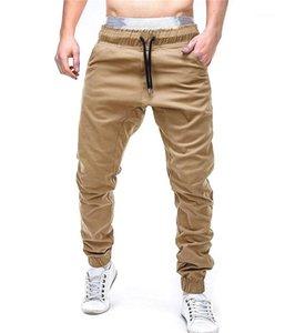 Couleur Mi taille en vrac Hommes Pantalons Sport style Vêtements pour hommes Casual Printemps Mens Designer Cross Pantalon solide