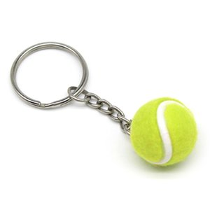 Mini Tennis Ball Key Chain Key Ring Decoration Accessory Gift for Sport Fans