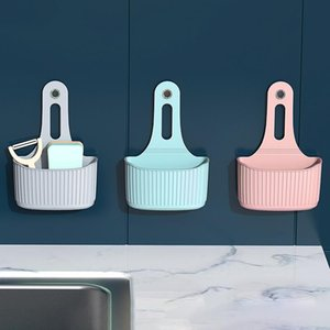 Wall-mounted Sink Hanging Bag Traceless Sucker Kitchen Storage Basket Storage Hanging Bag Large Size