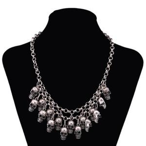 Ожерелья Подвески Байкерский панк Отдел черепа Винтажный пиратский скелет Ожерелье Ожерелья