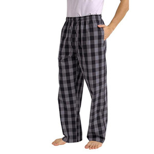 Men's Plaid Loose Sport Plaid Pajama Pants Trousers Cargo Pants Men European And American Frosted Design Sports Men Streetwear