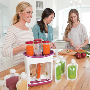 Baby Food Maker Infant Feeding Containers Storage Food Squeeze Station Baby Fruit Puree Packing Machine Toddler Solid Juice Make T200603