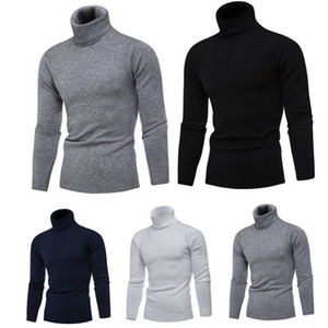 Herren Slim Fit Winter Fashion Neck Rollkragenpullover Stretch Jumper Shirt