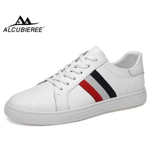 ALCUBIEREE Sonbahar Erkek Kaykay Ayakkabı Erkekler Rahat Dantel-up Sneakers Erkekler Eğitmenler Üç Çizgili Rahat Ayakkabı Zapatillas Hombre