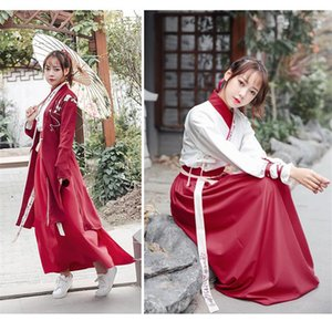 Модные женские платья с разрезом Han Chinese Womens Designer Clothing Womens 3pcs Hanfu Dresses